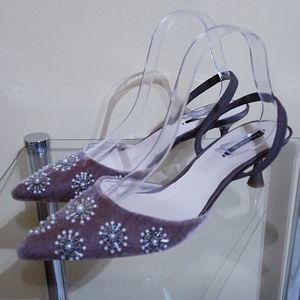 Zara Basic Collection Sling back Sandals Size 10